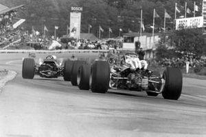 Bruce McLaren, McLaren M7A, Pedro Rodriguez, BRM P133, Jacky Ickx, Ferrari 312/67/68