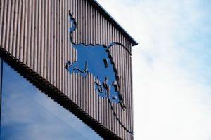 Red Bull Racing hospitality building logo