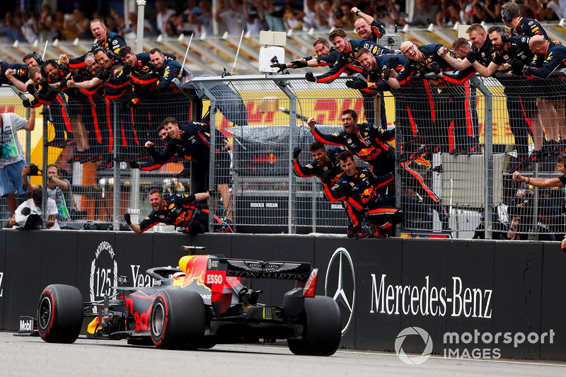 Verstappen scored his second win in three races