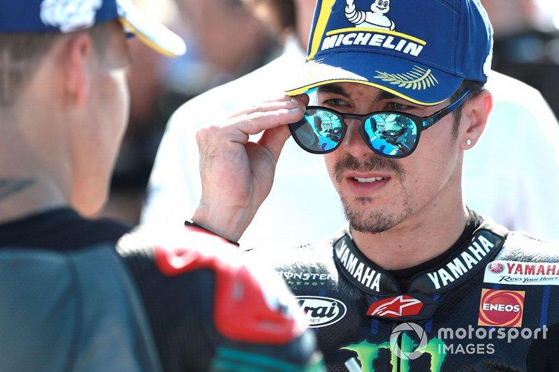 Pole sitter Maverick Vinales, Yamaha Factory Racing