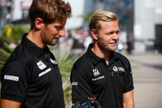 Romain Grosjean, Haas F1, Kevin Magnussen, Haas F1