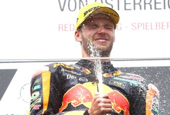 Podium: winner Brad Binder, KTM Ajo