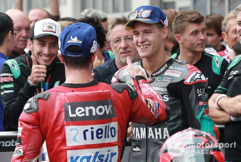 Fabio Quartararo et Andrea Dovizioso