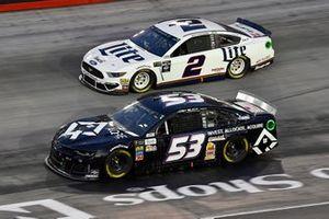 Josh Bilicki, Rick Ware Racing, Chevrolet Camaro Chelle Corporation / AQRE and Brad Keselowski, Team Penske, Ford Mustang Miller Lite