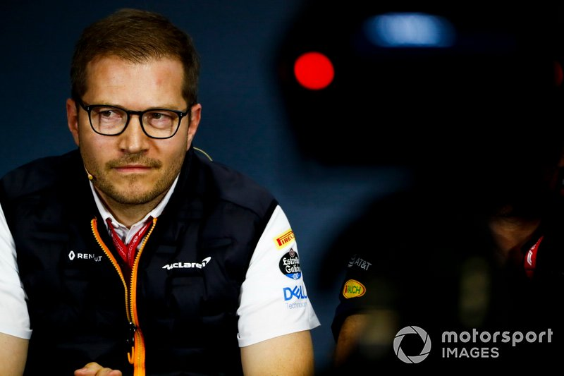 Andreas Seidl, Team Principal, McLaren, in the Press Conference