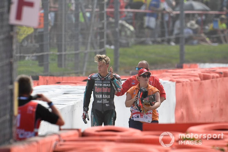 Fabio Quartararo, Petronas Yamaha SRT después del accidente