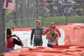 Fabio Quartararo, Petronas Yamaha SRT after his crash