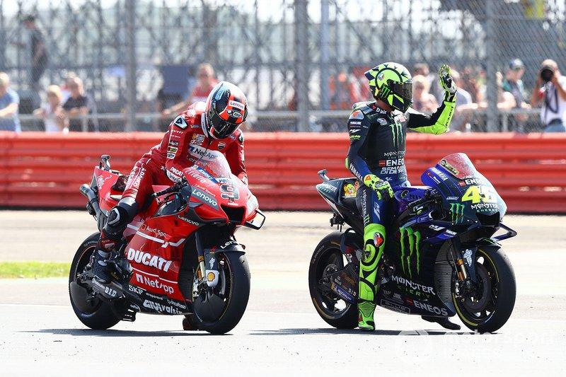 Danilo Petrucci, Ducati Team, Valentino Rossi, Yamaha Factory Racing