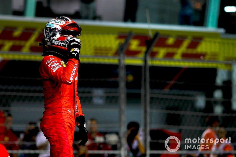 Le poleman Charles Leclerc, Ferrari