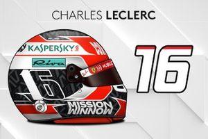 Le casque 2019 de Charles Leclerc