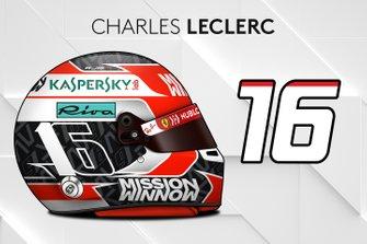 El casco 2019 de Charles Leclerc