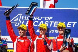 Podio GTE: #51 Luzich Racing Ferrari F488 GTE: Alessandro Pier Guidi, Nicklas Nielsen, Fabien Lavergne