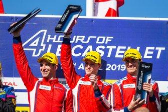 Podium GTE: #51 Luzich Racing Ferrari F488 GTE: Alessandro Pier Guidi, Nicklas Nielsen, Fabien Lavergne