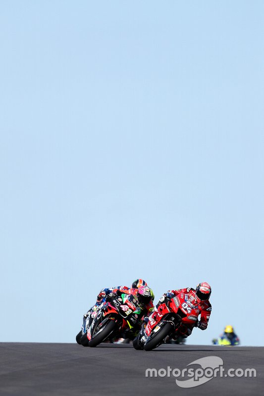 Andrea Dovizioso, Ducati Team, Aleix Espargaro, Aprilia Racing Team Gresini