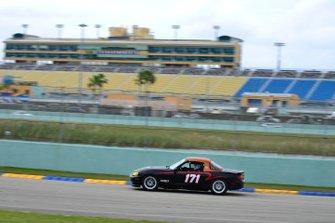 #171 MP4A Mazda Miata driven by Alberto Naon Jr. & Alberton Nano Sr. of Naon Racing