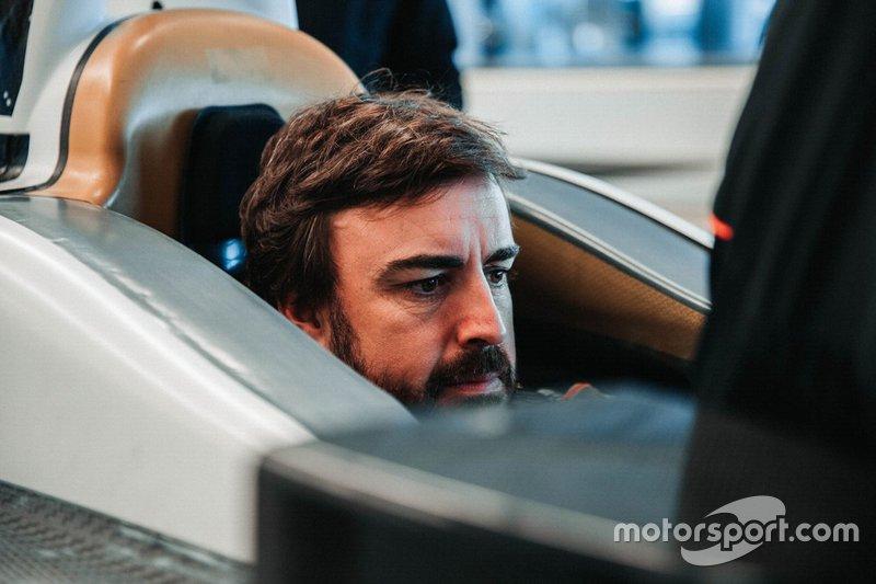 Fernando Alonso Indy 500 seat fitting