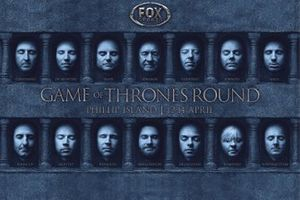 Game of Thrones round poster