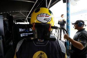 #5 Mustang Sampling Racing Cadillac DPi, DPi: Christian Fittipaldi, CF's Last One helmet