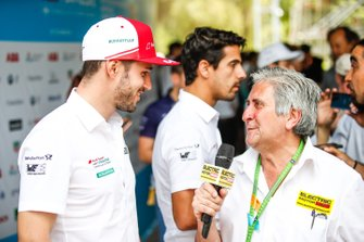 Daniel Abt, Audi Sport ABT Schaeffler talks to the press