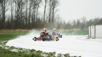 Ijskarten met Max Verstappen en Pierre Gasly