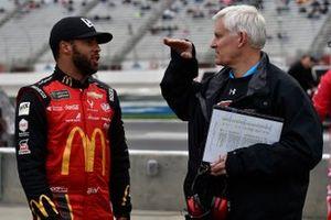 Darrell Wallace Jr., Richard Petty Motorsports, Chevrolet Camaro McDonald's anad Derek Stamets