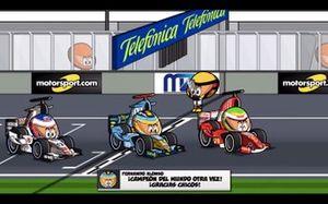 El final del GP de Brasil 2006