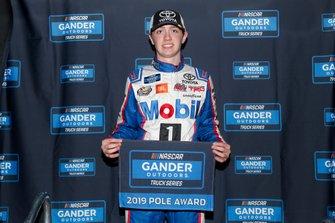 Pole sitter Christian Eckes, Kyle Busch Motorsports, Toyota Tundra SiriusXM