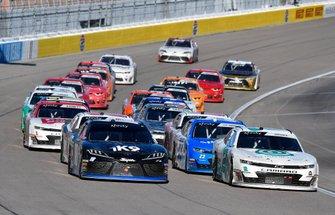 Kyle Busch, Joe Gibbs Racing, Toyota Supra Extreme Concepts/iK9 and Tyler Reddick, Richard Childress Racing, Chevrolet Camaro Hurdl
