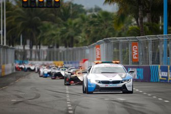 BMW i8 Safety car Jean-Eric Vergne, DS TECHEETAH, DS E-Tense FE19, Oliver Rowland, Nissan e.Dams, Nissan IMO1