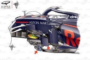 Red Bull RB15 bargeboards, captioned