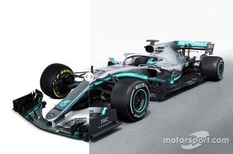 Mercedes W09 vs. W10 comparison