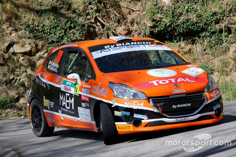 Davide Nicelli, Alessandro Mattioda, Peugeot 208 R2 #28, La Superba