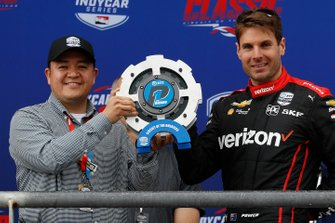 Will Power, Team Penske Chevrolet, entrega del Premio NTT P1