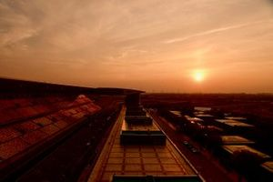 Sunset over the Shanghai International Circuit