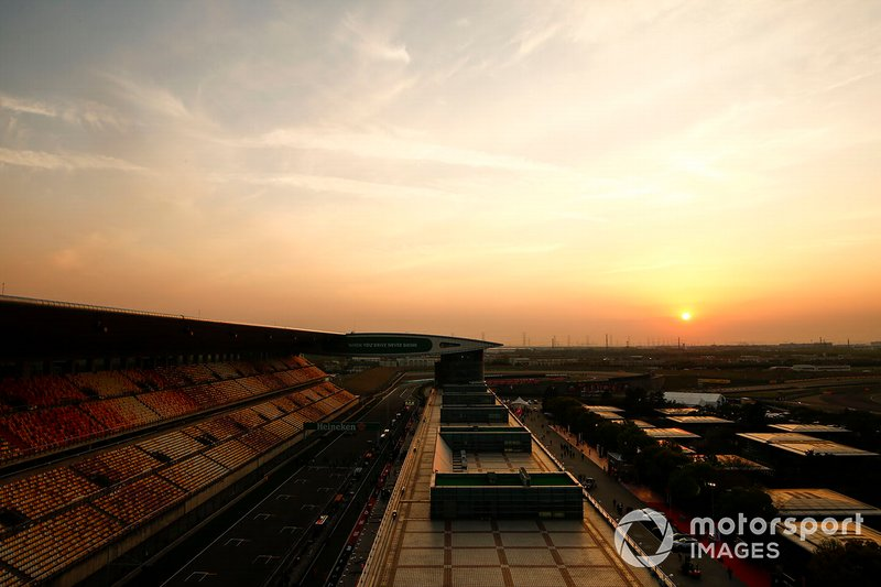 A scenic view of the Shanghai International Circuit