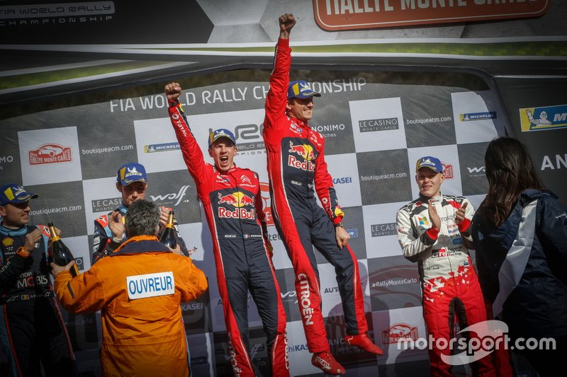 Podio: Ganador, Sébastien Ogier, Julien Ingrassia, Citroën World Rally Team Citroen C3 WRC