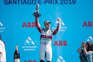 Daniel Abt, Audi Sport ABT Schaeffler celebrates 3rd position on the podium
