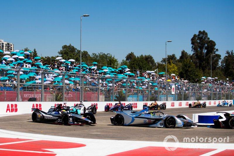 Felipe Massa, Venturi Formula E, Venturi VFE05 Oliver Rowland, Nissan e.Dams, Nissan IMO1 y Mitch Evans, Jaguar Racing, Jaguar I-Type 3