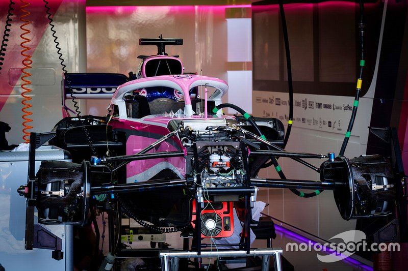Racing Point RP19: ecco lo schema della sospensione anteriore