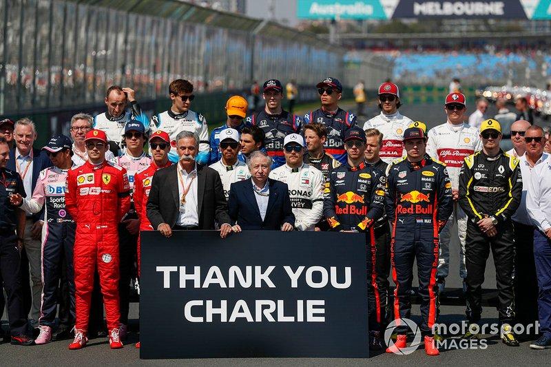 Les pilotes et les membres de la FIA se réunissent pour rendre hommage à Charlie Whiting