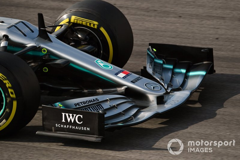 Mercedes-AMG F1 W10 EQ Power+ nose and front wing