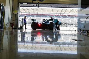 Tom Dillmann, NIO Formula E Team, NIO Sport 004, rolls back into the garage