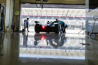 Tom Dillmann, NIO Formula E Team, NIO Sport 004, rolls back into the garage