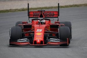 Sebastian Vettel, Ferrari SF90, avec des capteurs aéro