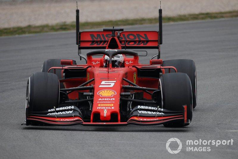 Sebastian Vettel, Ferrari SF90 with aero sensors