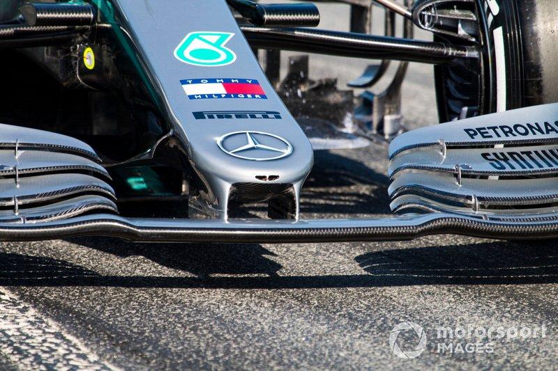 Morro del coche de Lewis Hamilton, Mercedes AMG F1 W10