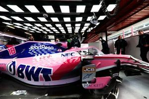 Lance Stroll, Racing Point RP19, in the garage