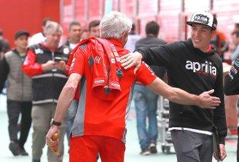 Джиджи Далл`Инья, руководитель команды Ducati Team, Алеш Эспаргаро, Aprilia Racing Team Gresin