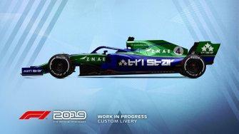 F1 2019 custom livery