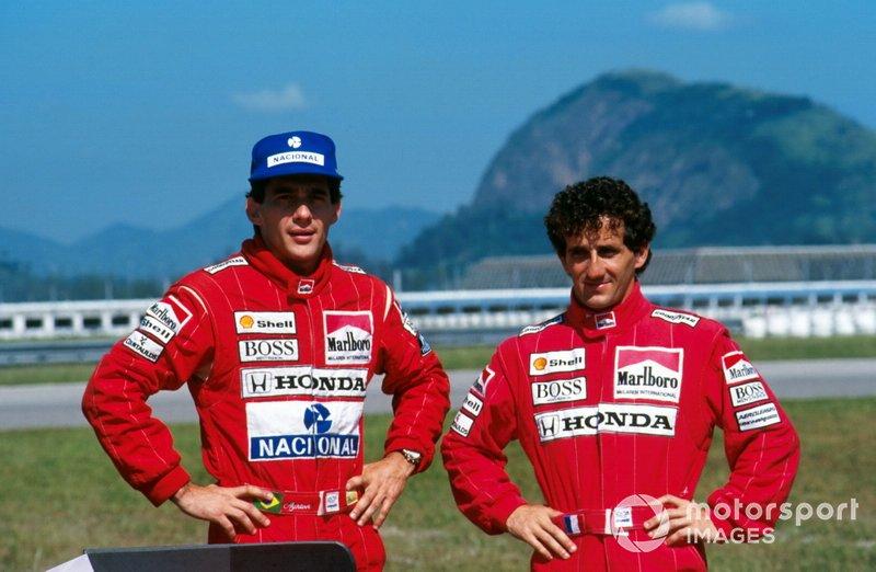 Ayrton Senna, and Alain Prost, McLaren